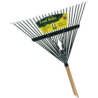 Flexrake CF24W 48-inch Handle 24-inch Metal Head Leaf Rake