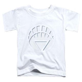 Green Lantern/White Lantern Logo Short Sleeve Toddler Tee in White
