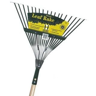 Flexrake CF20 48-inch Handle 20-inch Spring Action Metal Head Leaf Rake