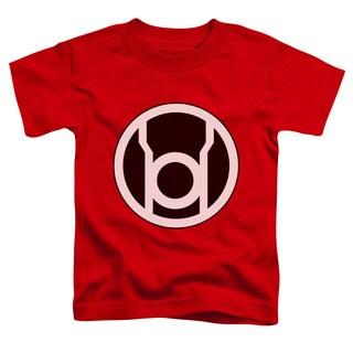 Green Lantern/Red Lantern Logo Short Sleeve Toddler Tee in Red