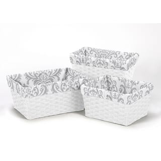Sweet Jojo Designs Elizabeth Collection Cotton Damask Basket Liners|https://ak1.ostkcdn.com/images/products/12401819/P19222131.jpg?impolicy=medium