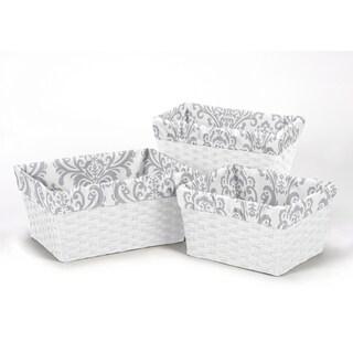 Sweet Jojo Designs Elizabeth Collection Cotton Damask Basket Liners
