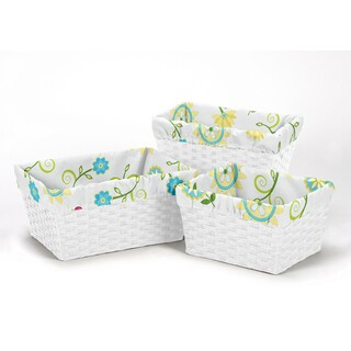 Sweet Jojo Designs Layla Collection Multicolored Cotton Basket Liners