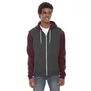 Unisex Flex Fleece Zip Dark Heather Grey/Truffle Hoodie(S, XL)