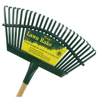 Flexrake 1W 48-inch Handle 19-inch Steel Head Lawn Rake