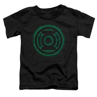 Green Lantern/Green Flame Logo Short Sleeve Toddler Tee in Black