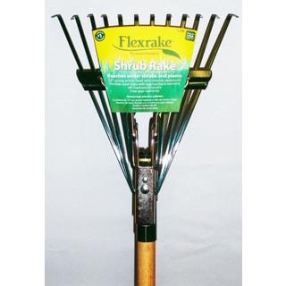 Flexrake 12W 4-foot Twelve Tine Hardwood Handle Shrub Rake