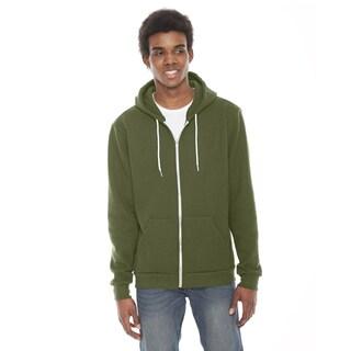 Unisex Flex Fleece Zip Barrack Green Hoodie(S, XL)