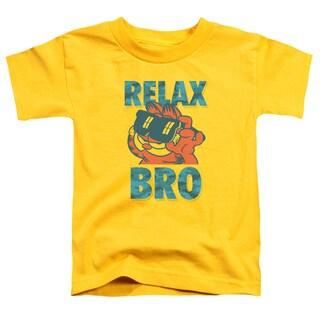Garfield/Relax Bro Short Sleeve Toddler Tee in Yellow