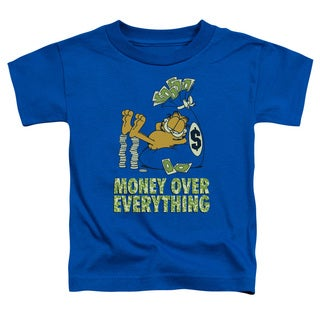 Garfield/Money Is Everything Short Sleeve Toddler Tee in Royal