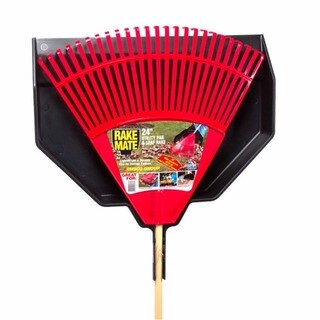 Emsco Group 90243 24-inch Rake Mate Poly Leaf Rake & Utility Pan
