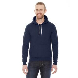 Unisex Flex Fleece Drop Shoulder Pullover Navy Hoodie(S, XL)