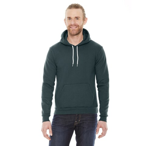 Unisex Flex Fleece Drop Shoulder Pullover Forest Hoodie(S, XL)