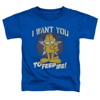 Garfield/I Want You Short Sleeve Toddler Tee in Royal