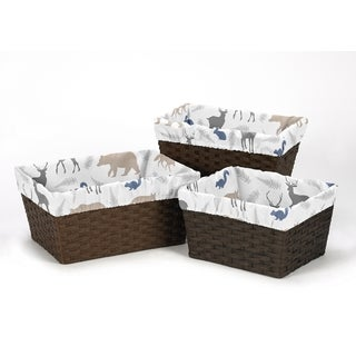 Sweet Jojo Designs Basket Liners for Woodland Animals Collection