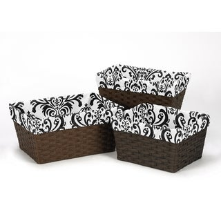 Sweet Jojo Designs Damask Basket Liners for the Sloane Collection