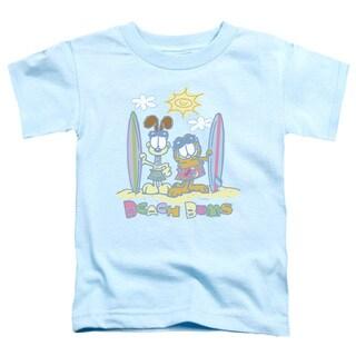 Garfield/Beach Bums Short Sleeve Toddler Tee in Light Blue