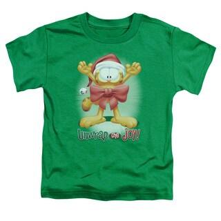 Garfield/Unwrap The Joy! Short Sleeve Toddler Tee in Kelly Green