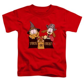 Garfield/Trick or Treat Short Sleeve Toddler Tee in Red