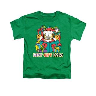 Garfield/Best Gift Ever Short Sleeve Toddler Tee in Kelly Green