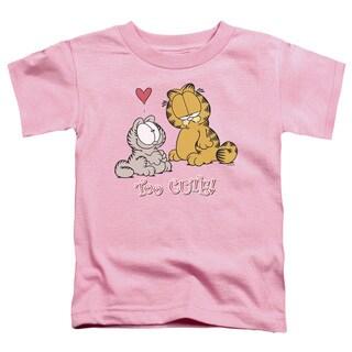 Garfield/Too Cute Short Sleeve Toddler Tee in Pink