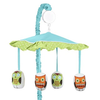Sweet JoJo Designs Hooty Collection Turquoise/Lime Musical Mobile