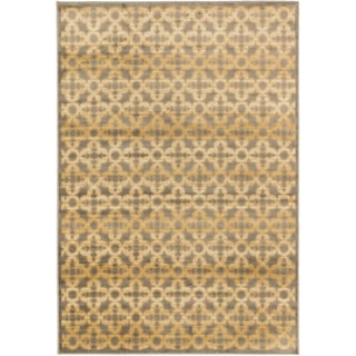 Athina Brown and Grey Viscose Rug (3'11 x 5'3)