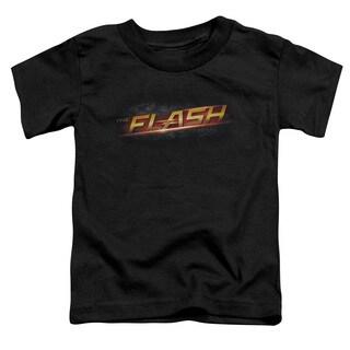 The Flash/Logo Short Sleeve Toddler Tee in Black