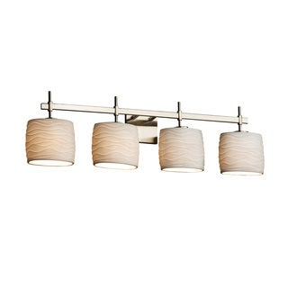 Justice Design Group Limoges Union 4-light Nickel Oval Bath Bar
