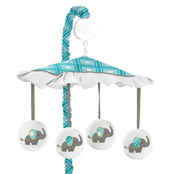Sweet Jojo Designs Mod Elephant Collection Musical Mobile