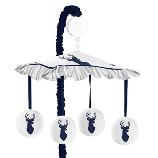 Sweet Jojo Designs Navy and White Woodland Deer Collection Musical Mobile