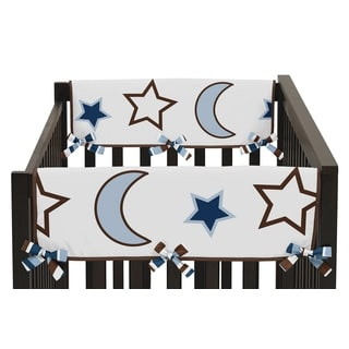 Sweet JoJo Designs Starry Night Collection Side Crib Rail Guard Covers (Set of 2)