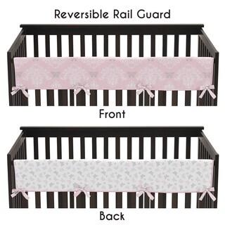 Sweet Jojo Designs Long Crib Rail Guard Cover for Alexa Collection