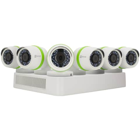 EZVIZ Smart Home 1080p Security System, 6 Weatherproof HD 1080p Cameras, 8 Channel DVR with 2TB HDD, 100ft Night Vision, Smart