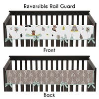 Sweet Jojo Designs Cotton Long Crib Rail Guard Cover for Outdoor Adventure Collection