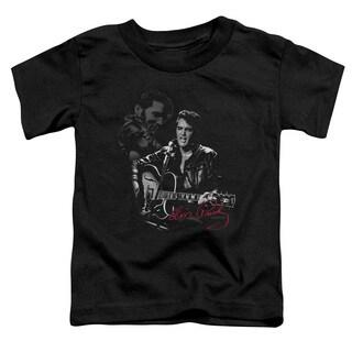 Elvis/Show Stopper Short Sleeve Toddler Tee in Black