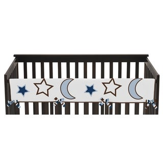 Sweet Jojo Designs Long Crib Rail Guard Cover for Starry Night Collection