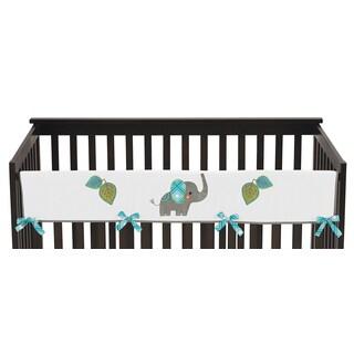 Sweet Jojo Designs Mod Elephant Collection Long Crib Rail Guard Cover