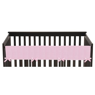 Sweet Jojo Designs Long Crib Rail Guard Cover for Pink Chenille Collection