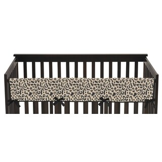 Sweet Jojo Designs Long Crib Rail Guard Cover for Animal Safari Collection
