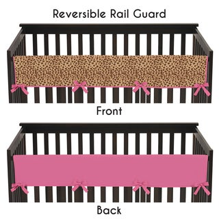 Sweet Jojo Designs Cheetah Girl Collection Long Crib Rail Guard Cover