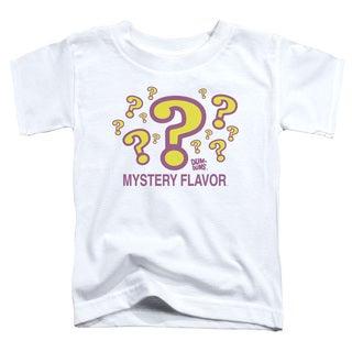 Dum Dums/Mystery Flavor Short Sleeve Toddler Tee in White