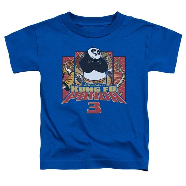 Kung Fu Panda/Kung Furry Short Sleeve Toddler Tee in Royal
