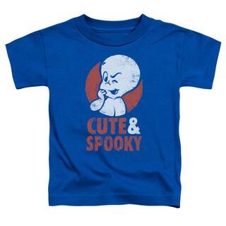 Casper/Spooky Short Sleeve Toddler Tee in Royal Blue