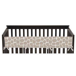 Sweet Jojo Designs Long Crib Rail Guard Cover for Giraffe Collection