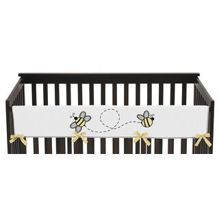 Sweet Jojo Designs Honey Bee Collection Multicolored Cotton Long Crib Rail Guard Cover