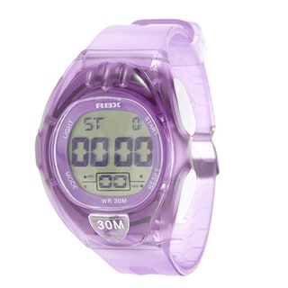 RBX Active Sport Digital Purple Rubber Strap Watch