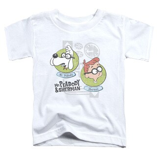 Mr Peabody & Sherman/Gadgets Short Sleeve Toddler Tee in White