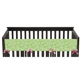 Sweet Jojo Designs Long Crib Rail Guard Cover for Olivia Collection