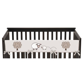Sweet Jojo Designs Little Lamb Collection Cotton Long Crib Rail Guard Cover